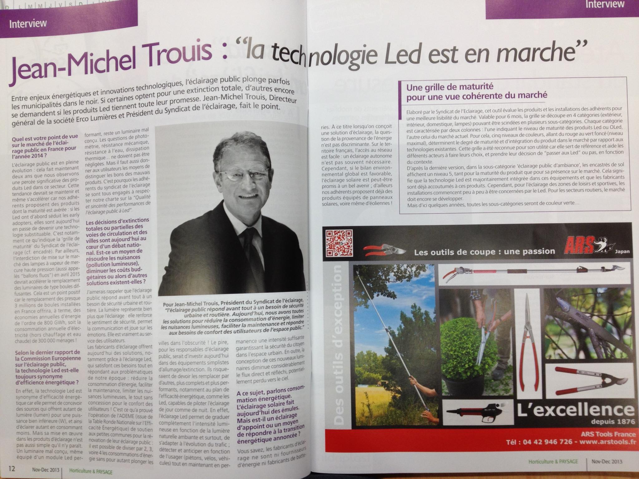 Interview de jean michel trou s in horticulture et paysage for Horticulture et paysage