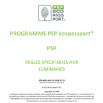 PEP Ecopassport - PSR Luminaires